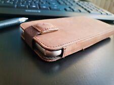 Handy Echt Leder Tasche Etui Cover Case Echtes Leder Hülle Smartphone iPhone 7