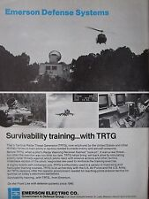 9/1982 PUB EMERSON DEFENSE SYSTEMS TRTG TACTICAL RADAR THREAT GENERATOR AD