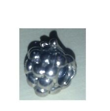 GF-3 AUTHENTIC CHAMILIA STERLING SILVER RETIRED GRAPES BEAD CHARM NEW w/BOX!