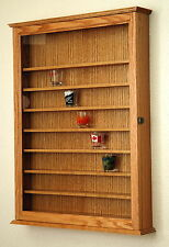 72 Shot Glass Shooter Display Case Holder Cabinet Wall Rack *Made in the USA*