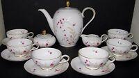 Demitasse Baronet China Clarice Coffee Pot Creamer Sugar Bowl 6 Cup & Saucer Set