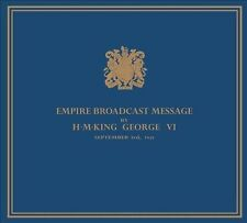 KING GEORGE VI OF ENGLAND (SPOKEN WORD) KING TO HIS PEOPLES - 3RD SEPTEMBER 1939