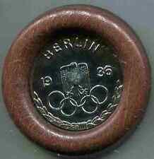 Olympia 1936: ceinturon château édition, à encadrer. argentés .7 CM. 1 pièces