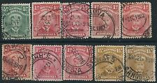 K138) Rhodesia. 1913/22.  Used  Small Collection. Royalty. Admirals. c£42+