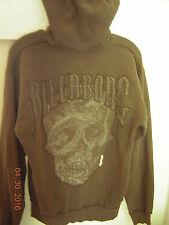 Billabong S small hoodie zip front olive green - skull - EUC