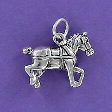 Clydesdale Horse Charm Sterling Silver for Bracelet Working Budweiser Farm Huge