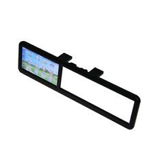 "4.3""  Rearview Mirror Car Navigation GPS System Bluetooth Backup Camera AV-In"