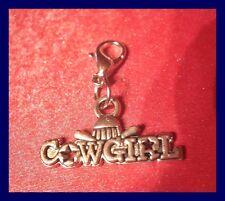 * COWGIRL * Charms Armband Anhänger Kettenanhänger m. Karabiner NEU   (b32)