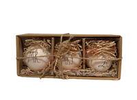 New Rae Dunn By Magenta Mr. Mrs. 2019 Christmas Ceramic Ornaments Set of 3 NIB