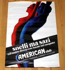 A3 AMERICAN CLUB SNELLI MA SAZI poster manifesto affiche Fitness Armando  Testa 2077423dc8d