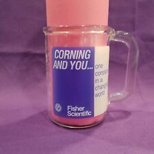 Pyrex Corning Fisher Scientific 400 mL LAB GLASS COFFEE MUG Beaker Measuring Cup