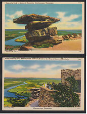 Vintage Postcard Lot TN - CHATTANOOGA Lookout Mt Ochs Memorial & Umbrella Rock