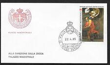 SMOM 1985 FDC Caravaggio (A)