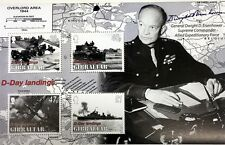 2004 GIBRALTAR WORLD WAR II STAMPS SHEET D-DAY LANDINGS EISENHOWER OVERLORD