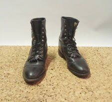 Justin Case Black Leather USA Lumberjack Ghille Work Boots