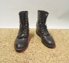 JUSTIN Custodia nera in pelle USA LUMBERJACK Ghille Work Boots