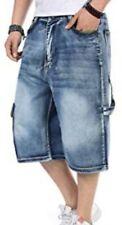 MARITHE FRANÇOIS GIRBAUD men's big & tall denim cargo shorts in grayish blk US32