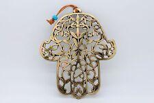 Large Metal Olive Leaves HAMSA wall decor amulet charm hand fatima Bronze color