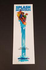 Walt Disney World Splash Mountain Grand Opening Commemorative Poster Print
