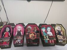 Living dead dolls Lot of 5 AmericaGothic Dedwin & Necro Dottie Rose Calico Greed