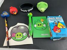 LOT OF 8 ANGRY BIRDS ITEMS NOTEPAD PEN PENCIL BRACELET ANIMALS BANDAGES