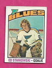 1976-77 OPC # 104 BLUES ED STANIOWSKI  ROOKIE EX+  CARD  (INV# C4946)