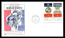 HONOURING AMERICAN SERVICEMEN VETERANS HERO's  FIRST DAY COVER