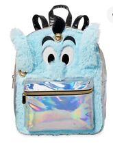 Disney Store Genie Aladdin Small Backpack Faux Fur Book Bag
