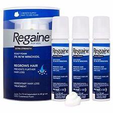Regaine For Men Hair Regrowth Foam  3x 73ml - Three Months Supply