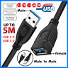 USB 3.0 Super Speed Extension Cable Male To Female Charger Powered Data Sync Lot