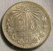 Mexico 1941 20 Centavos  silver coin (0754)