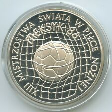 GS419 - Poland 100 Zlotych 1986 Y#225 World Cup Mexico Proof Silver Polen