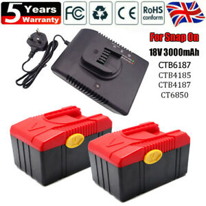 For Genuine Snap on Battery 18V CTB6187 CTB4185 CTB4187 CTB6185 CT6850 Charger