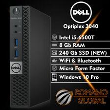 Dell Optiplex 3040 Micro Intel i5-6500T 8GB 240GB SSD W10P 2020 *SHIPS FAST*