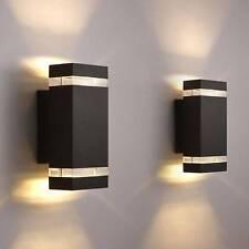 LED Wandlampe Gartenleuchte Außenlampe Wandbeleuchtung Up-Down Effekt Schwarz