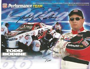 Todd Bodine 8 1/2x11 Autographed Photo L@@K