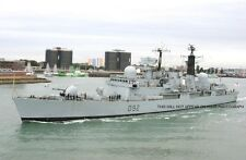 ROYAL NAVY TYPE 42 DESTROYER HMS LIVERPOOL SAILS FROM PORTSMOUTH