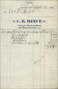 1925 Manhattan Montana (MT) C.B.Meece