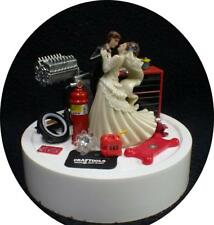 Car AUTO MECHANIC Wedding Cake Topper Bride Groom top Tools FUNNY Racing ENGINE