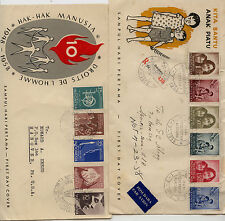 Indonesia 1958 2 cachet covers Kl0104