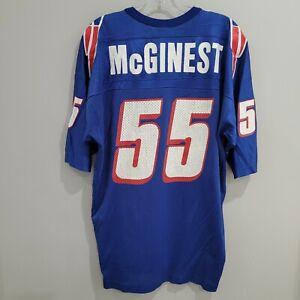 Rare VTG 90s Champion New England Patriots Willie McGinest 55 Jersey Mens 48 XL
