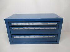 Huot 13200 Blue Stackable 3 Drawer Carbide Burr Dispenser