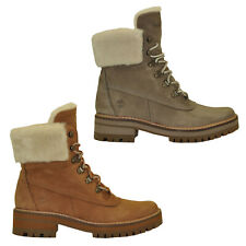 Timberland Courmayeur Valley Shearling Lambskin Boots Women Lace up Boots