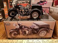 1:12 Harley Davidson Servi-car bank 1947 toy die cast motorcycle