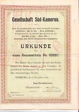 Gesellschaft für Süd-Kamerun, HH 1898 - Kolonialgesellschaft - Gründer -