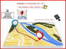 Mappe Navigatore Autoradio Cinesi Win ce Europa Italiano Multilingua 2016-2017