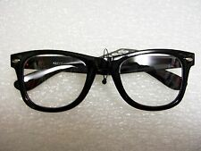 RETRO FASHION EYE-WEAR UNISEX MEN'S WOMEN'S CLEAR LENS HORN RIM GLASSES