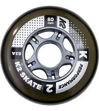 K2 patins-rôles 80mm performance wheels 8-pack avec ILQ 7 alu spacers Noir