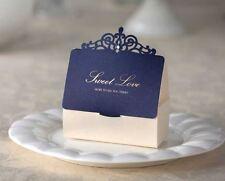 10x Elegant Wedding Bridal Bomboniere Favour Box