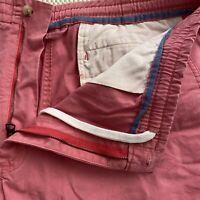"Polo Ralph Lauren SZ XXL 40 x 10"" Coral Flex Cotton Drawstring Casual Shorts"
